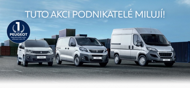 Peugeot Professional - akce na Peugeot Boxer